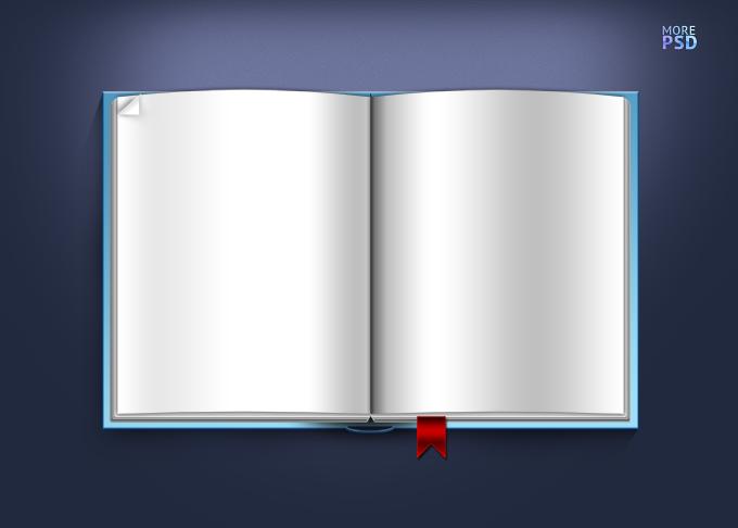 мокап пустой раскрытой книги