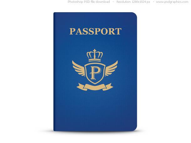 passport, icon, паспорт, иконка, синий, скачать, бесплатно, psd