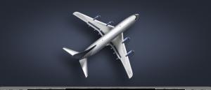 скачать, иллюстрация, самолет, psd, серебристый, plane
