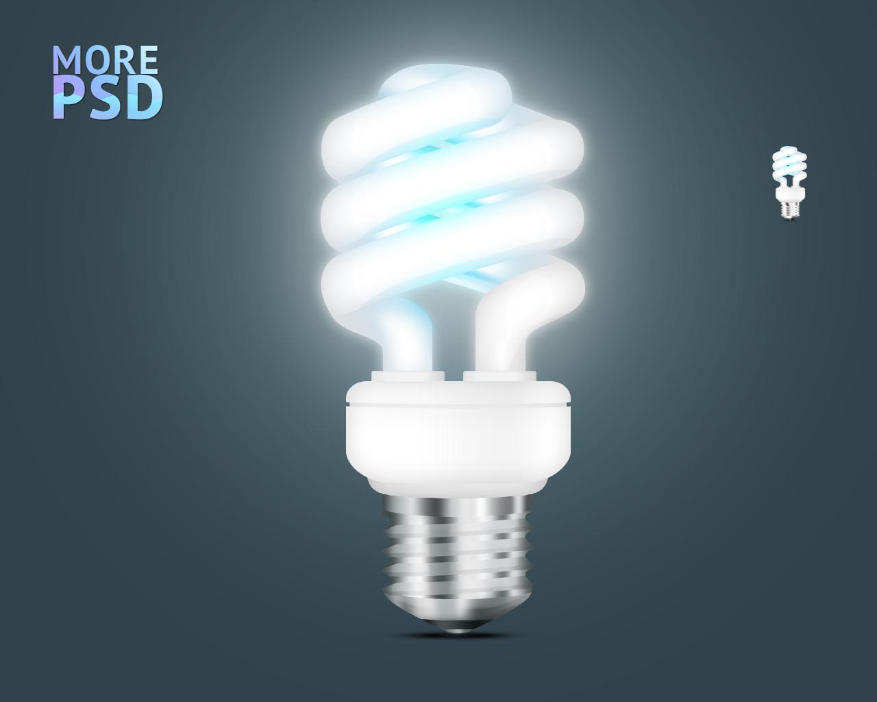 иконка, png, psd, энергосберегающая лампа, energy save lamp, icon