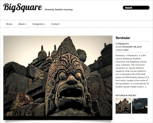 Big Square free wordpress theme, бесплатная тема wordpress для портфолио