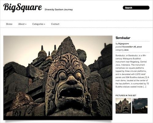 Big Square free wordpress theme, бесплатная тема wordpress для портфолио