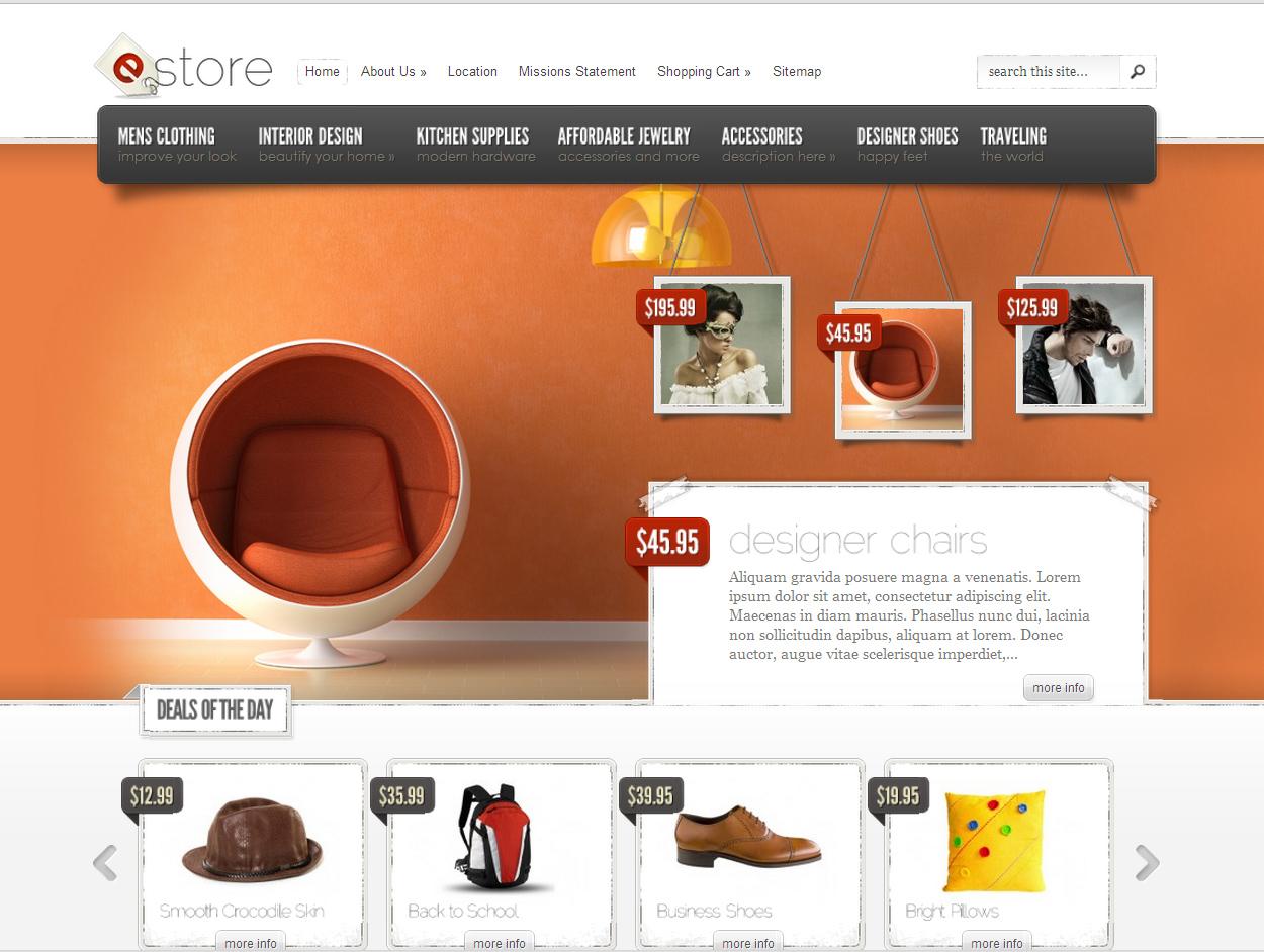 wordpress themes, интернет-магазин, заказать, шаблон, wordpress, тема, eStore, elegant themes, заказать сайт