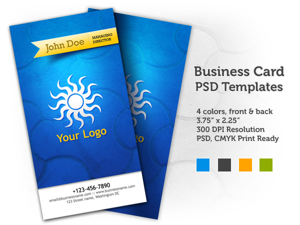 professional business card free Photoshop PSD download