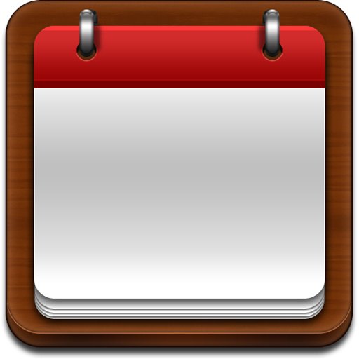 calendar, apple style icon, psd source, photoshop