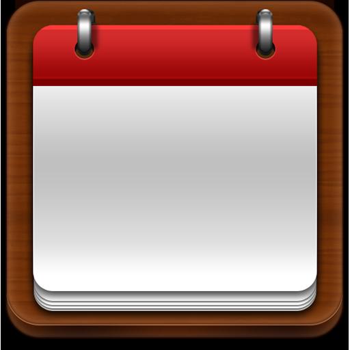 calendar, apple style icon, psd source, photoshop