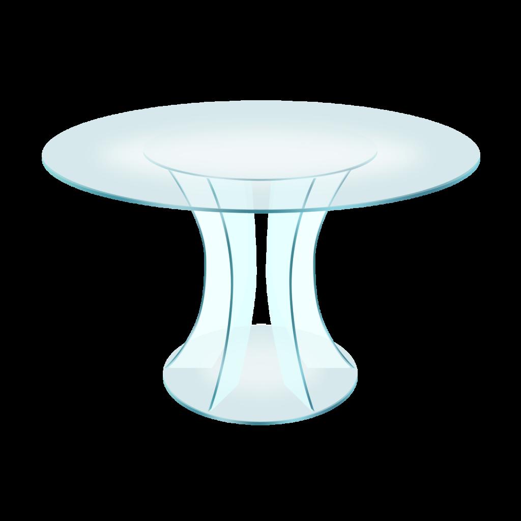 png полупрозрачный стеклянный столик, transparent glass table