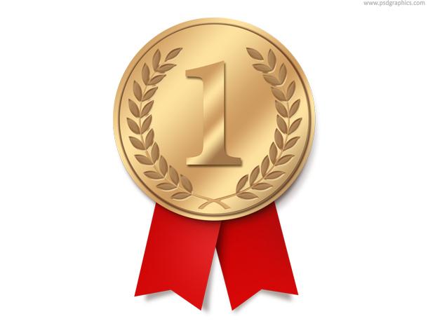 медаль, золотая, ленточки, скачать, psd исходник, исходник, download, бесплатно, free