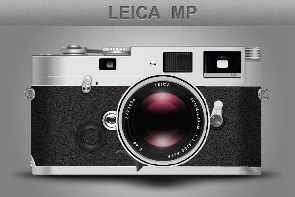 psd исходник фотоаппарат иконка Leica скачать