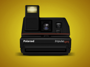 фотоаппарат polaroid psd исходник, png иконка