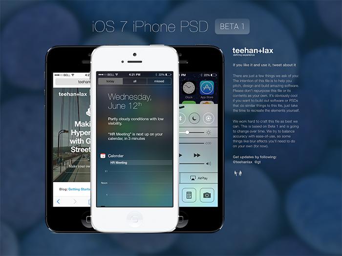шаблон psd дизайна интерфейса ios