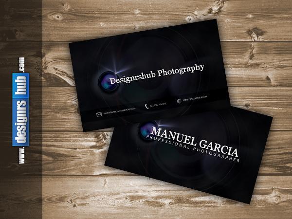визитка для фотографов psd шаблон