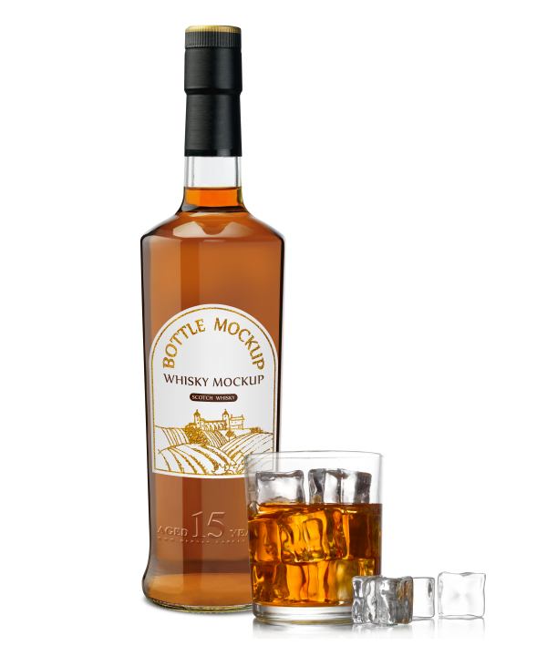 виски коньяк бутылка psd png стакан