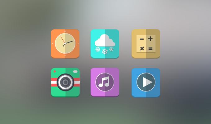 красивые флэт иконки flat icons