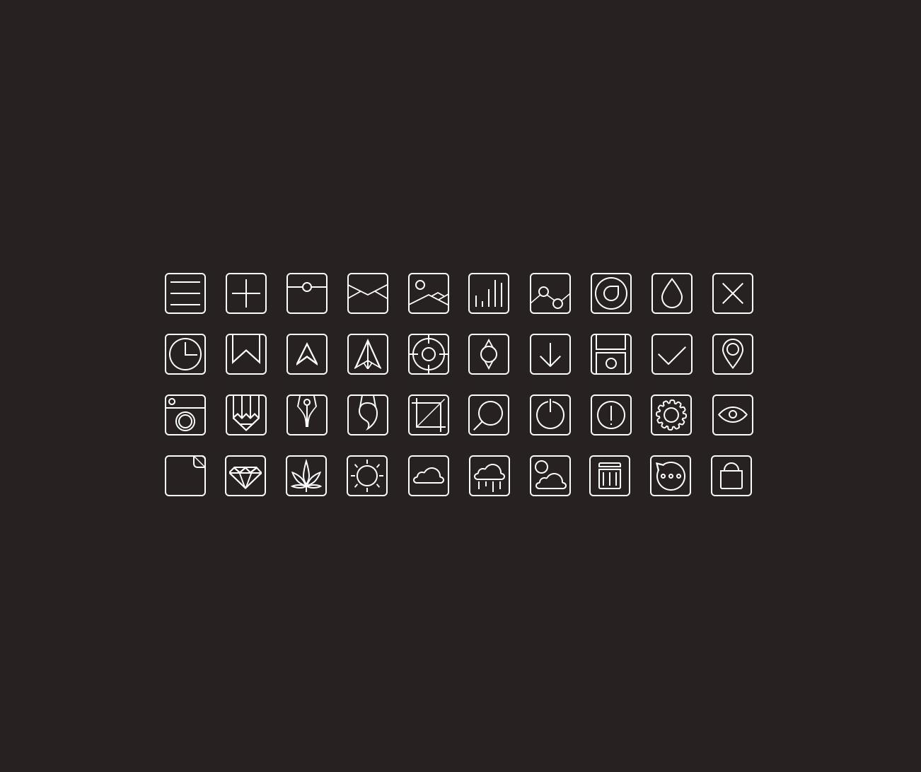 thin minimal icons тонки минималистичные иконки, пиктограммы, flat, ui, dribbble