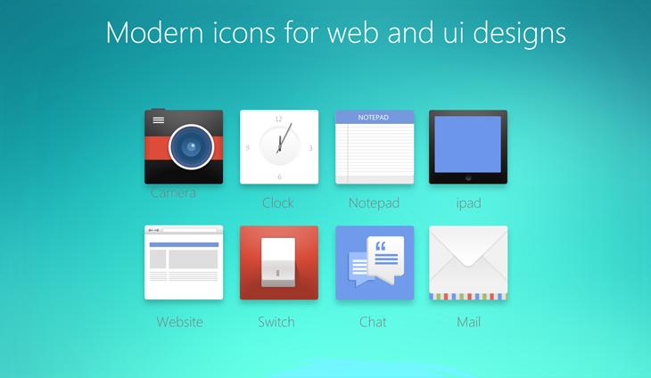 psd модерновые бесплатные иконки для web и ui скачать