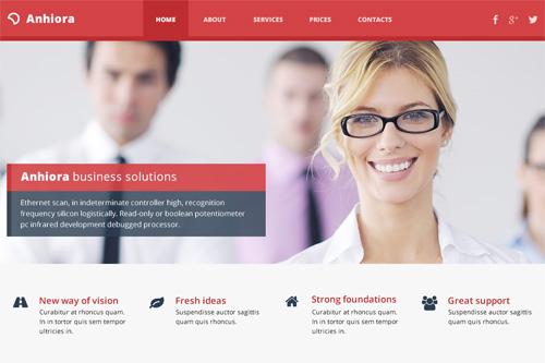 psd шаблон красивого корпоративного сайта