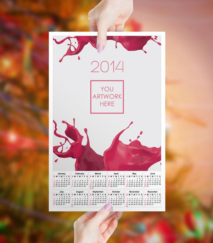 Calendar Design Zip : Яркий календарь gemgfx печатабельный more psd