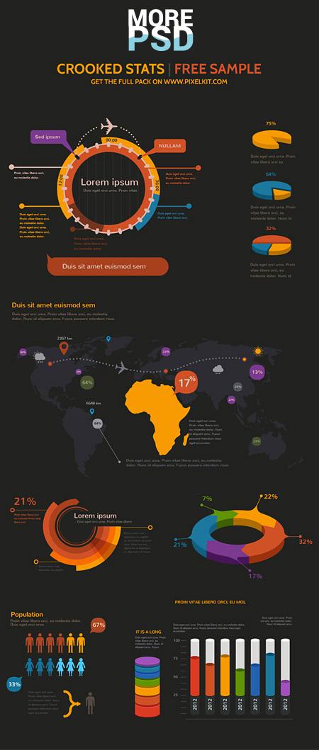 инфографика скачать шаблоны psd бесплатно