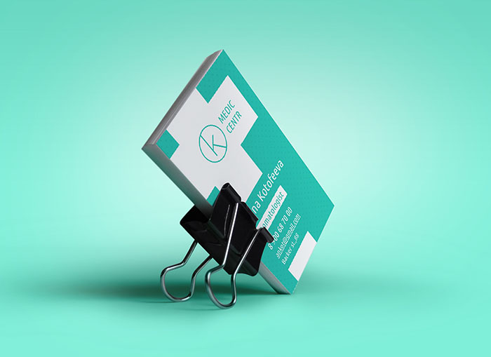 psd шаблон визитки врача скачать бесплатно