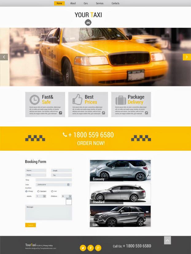 psd шаблон сайта такси wordpress скачать