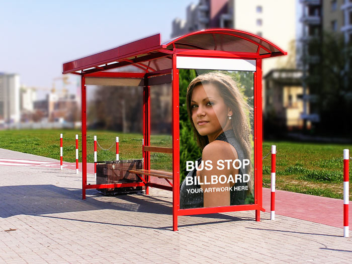 bus station brandind psd template