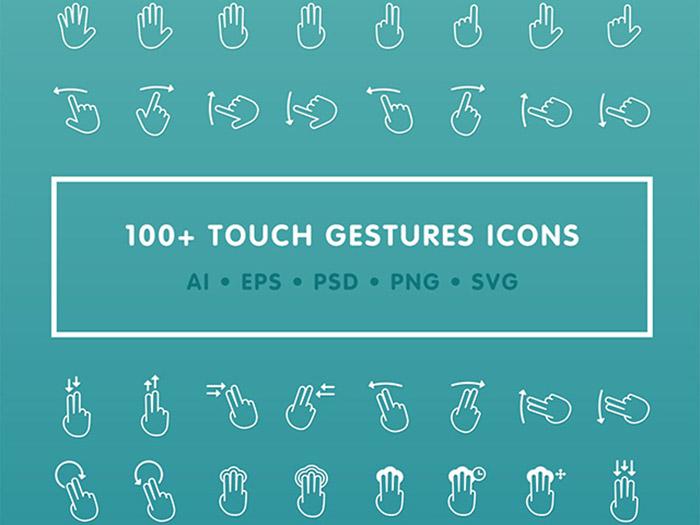 векторные иконки жесты руки скачать ai psd eps svg