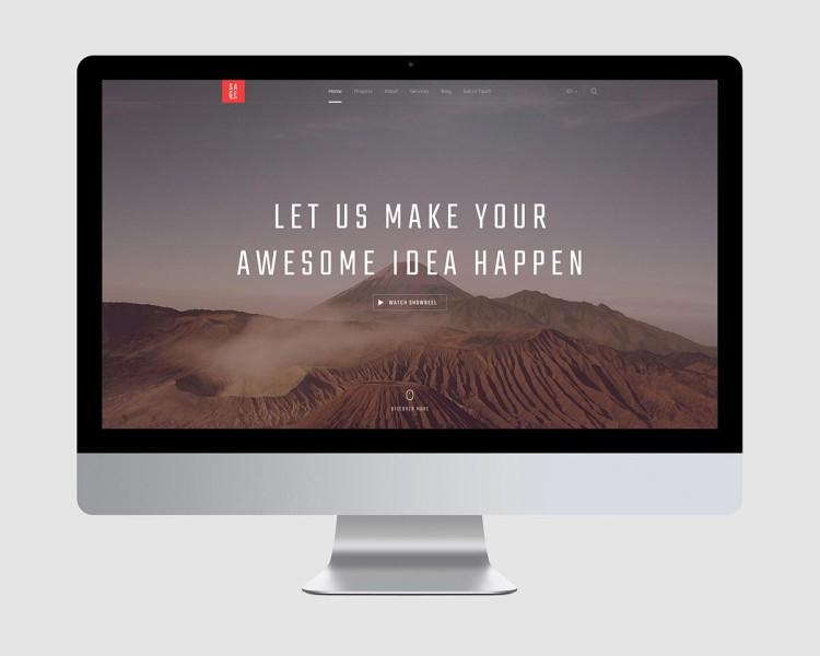 скачать psd шаблон сайта фотографа или дизайнера, вебстудии пример крутой