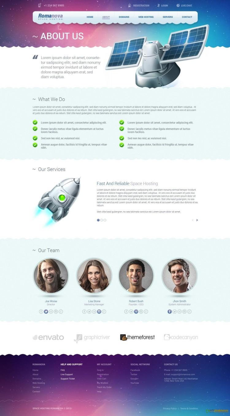 Шаблон сайта хостинга psd файл скачать бесплатно free template hosting website