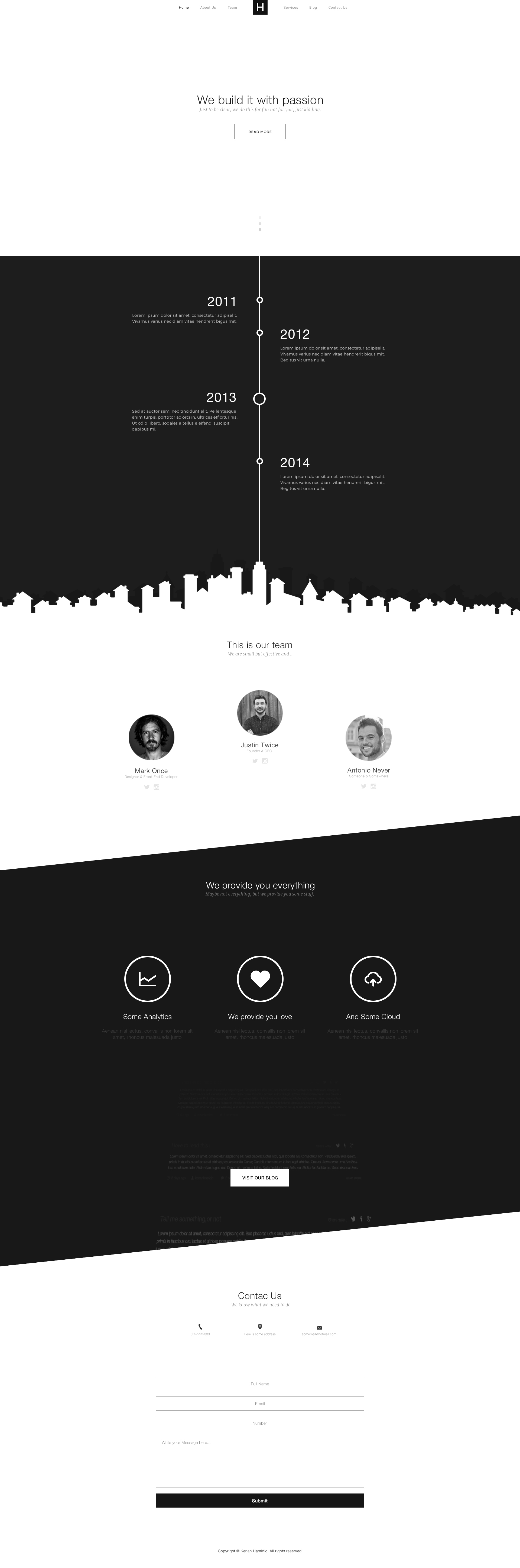 Website free psd template