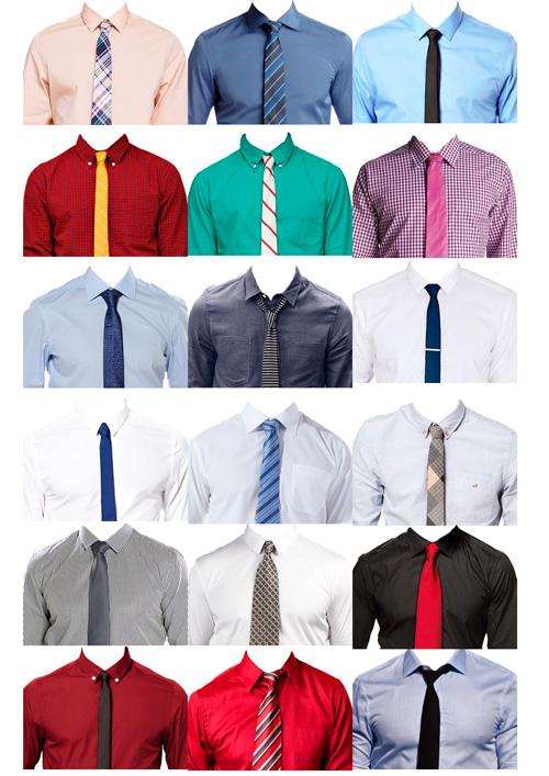 шаблон фотошоп psd рубашка галстук скачать