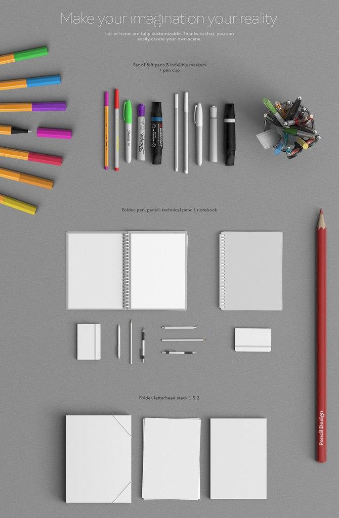 psd, ручка, клавиатура, мышь, макбук, степлер, растение, стол, скачать