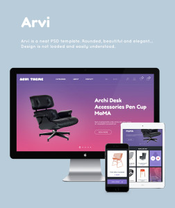 шаблон psd интернет магазина Arvi все страницы скачать