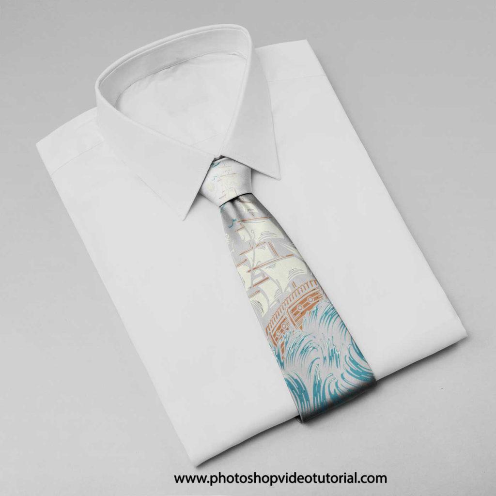 мокап галстук рубашка mock up