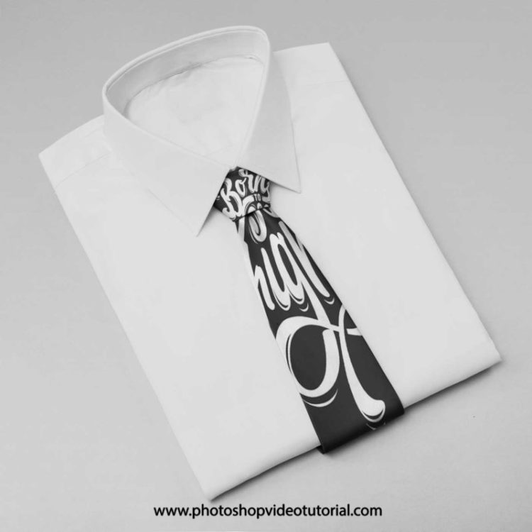 галстук с рубашкой мокап mockup