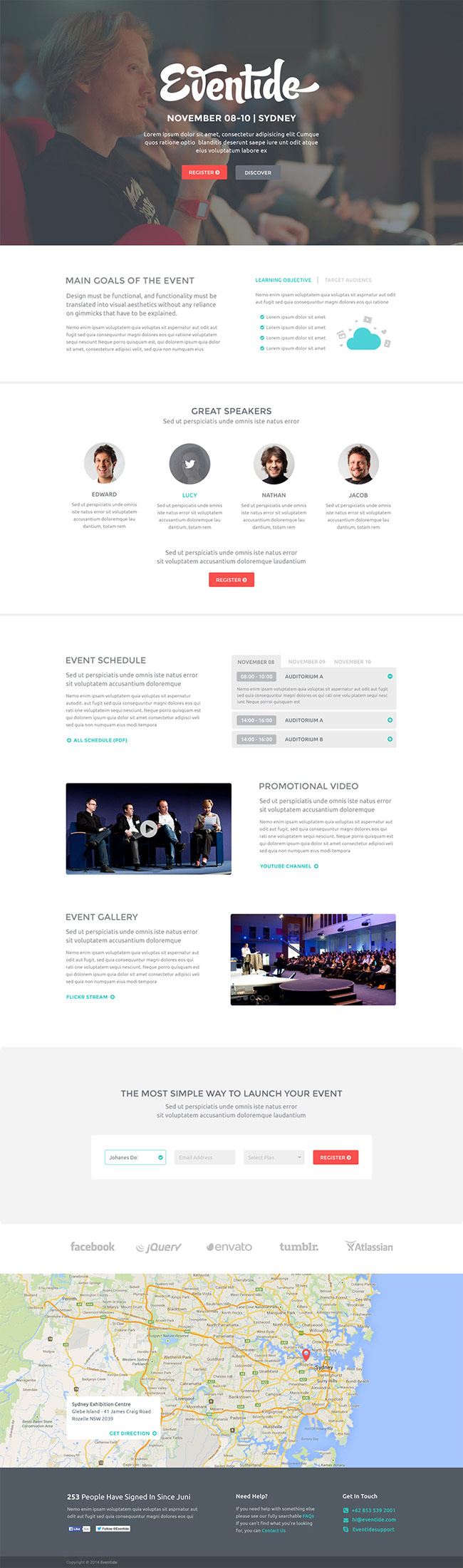 modern free landing template wordpress