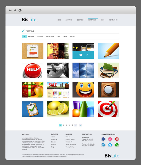 free website theme template corporate download