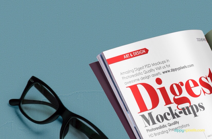 free magazine in hands mockup download