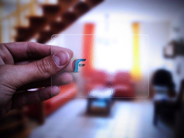 Прозрачная визитка мокап скачать psd бесплатно