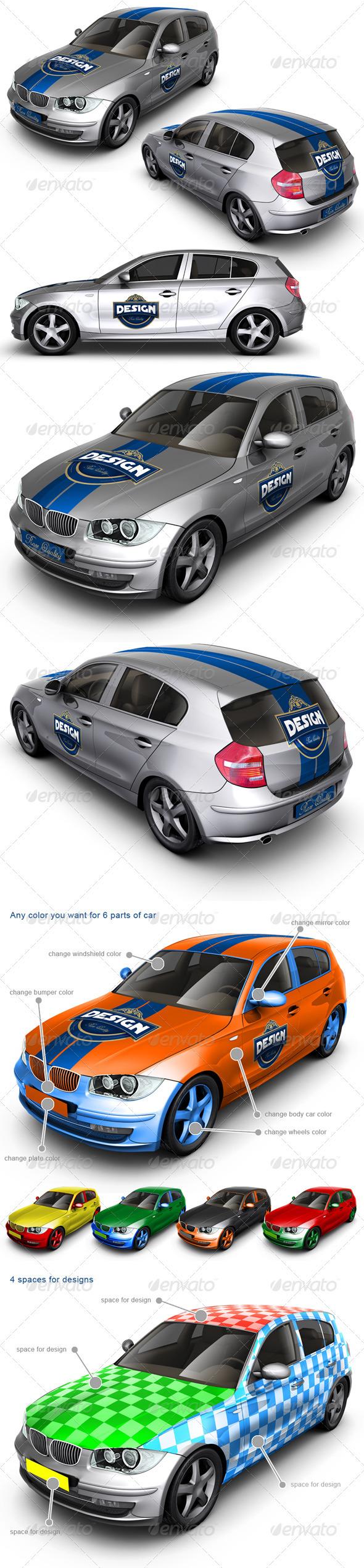 car branding mockup free авто мокап скачать