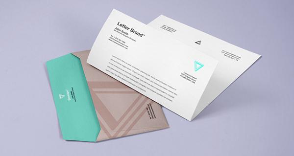 psd мокап фирменного бланка и конверта