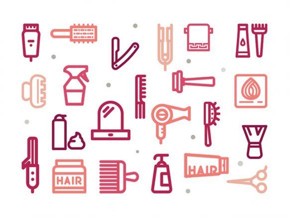 иконки, парикмахерская, салон красоты, для сайта