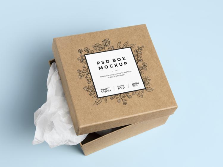 подарочная коробка мокап psd бесплатно