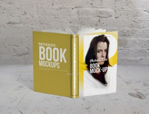 мокап книга realistic book mock up free