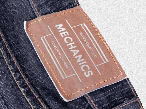 мокап бирки на джинсы мокап psd