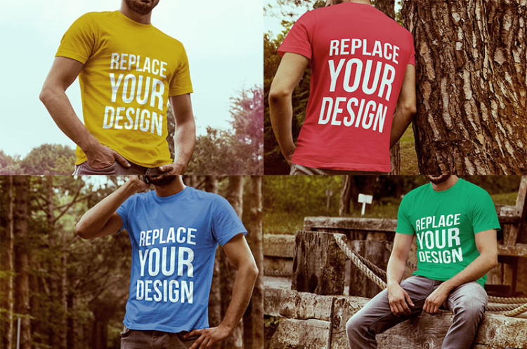 мокап футболок PSD бесплатно free t-shirts mock up