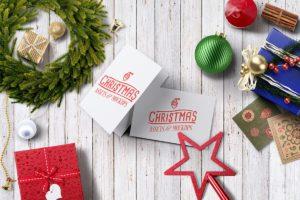 мокап новогодней открытки psd бесплатно