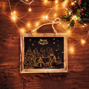 Новогодняя открытка мокап