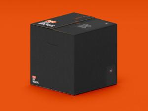 коробка картонная мокап box package free mockup