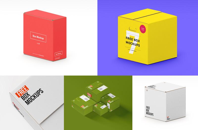 box mockup free коробка мокап картонная скачать